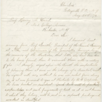 Letchworth, William Pryor.. Letter to Ward, Henry Augustus (1876-08-24)