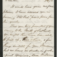 Gordon, George.  Letter to Ward, Henry A. (1876-10-31)