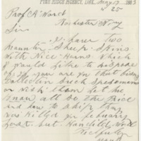 Clifford, H. C. Letter to Ward, Henry A. (1883-05-17)