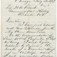 Sacket, D.B. Letter to Ward, Henry A. (1877-07-30)