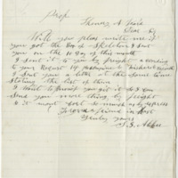 Abbee, S. G. Letter to Ward, Henry A. (1876-04-30)
