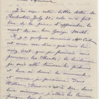 DeKempeneer, Charles E. Letter to Ward, Henry A. (1883-09-05)