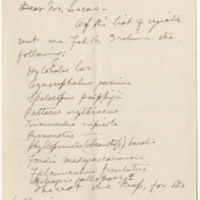 Allen, J. A. Letter to Lucas, Frederic Augustus. (1881-04-01)