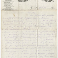 Tingley, Joseph. Letter to Ward, Henry Augustus. (1873-10-18)