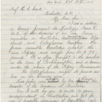 Newberry, J. S. (John Strong). Letter to Ward, Henry A. (1876-10-18)