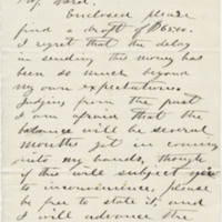 Fowler, Spencer J. Letter to Ward, Henry A. (1864-06-29)