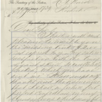 Stout, A.B. Letter to Ward, Henry A. (1879-08-06)