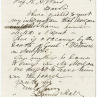 Hall, James. Letter to Ward, Henry Augustus (1876-03-17)