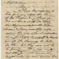 Gerrard, Edward. Letter to Ward, Henry Augustus. (1873-07-09)