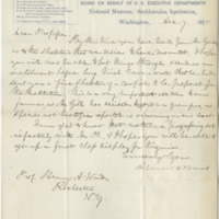 Baird, Spencer F. Letter to Ward, Henry A. (1875-12-07)