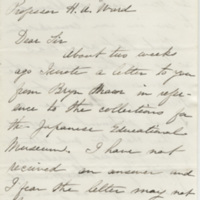 Murray, David. Letter to Ward, Henry Augustus (1876-08-28)