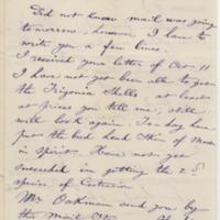 DeKempeneer, Charles E. Letter to Ward, Henry A. (1883-12-05)