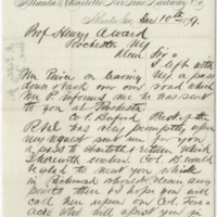 Sibley, Hiram. Letter to Ward, Henry Augustus (1879-12-10), page 1