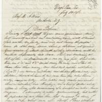 Tuerpe, Albert. Letter to Ward, Henry Augustus. (1873-07-14)