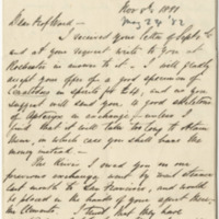 Cheeseman, T. F.  Letter to Ward, Henry A. (1881-11-08)