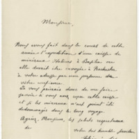 Tito, Chionio. Letter to Ward, Henry Augustus (1879-12-12)