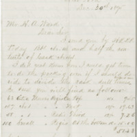 McNiel, Wm. H. Letter to Ward, Henry A. (1875-12-29)