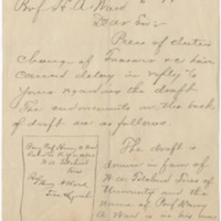 Herdman, William J. Letter to Ward, Henry A. (1883-05-14)