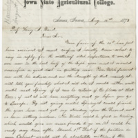 Hornaday, W. T. Letter to Ward, Henry A. (1873-08-15)