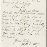 Williston, A. L. Letter to Ward, Henry A. (1880-05-17)