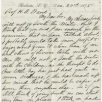 Merriman, Corydon Charles. Letter to Ward, Henry A. (1875-12-23)