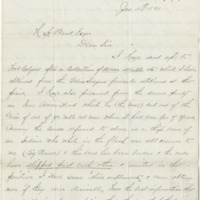 Kanouse, H. A. Letter to Ward, Henry A. (1881-01-11)