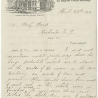 Williston, A. Lyman. Letter to Ward, Henry A. (1876-04-26)