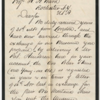 Stephen (Alexander)  Sons. Letter to Ward, Henry A. (1877-05-30)