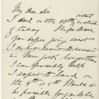 Dunraven.  Letter to Ward, Henry Augustus. (1873-07-19)