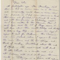 DeKempeneer, Charles E. Letter to Ward, Henry A. (1884-01-30)