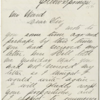 Applegate, W. Letter to Ward, Henry A. (1875-12-20). Page 1