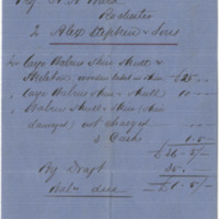 Stephen (Alex) and Sons. Invoice to Ward, Henry Augustus (1876-03-16)