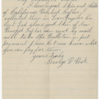 Peck, George D. Letter to Ward, Henry A. (1888-05-08)