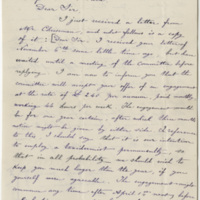 DeKempeneer, Charles E. Letter to Ward, Henry A. (1884-01-02)