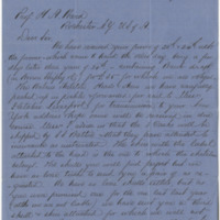 Stephen (Alex) and Sons. Letter to Ward, Henry Augustus (1876-03-15)