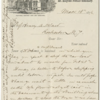Williston, A. Lyman. Letter to Ward, Henry Augustus (1876-03-18)