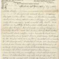 Howell, Edwin Eugene. Letter to Ward, Henry A (1883-05-02)