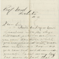 Peck, P. P. Letter to Ward, Henry A. (1875-12)