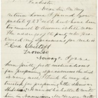 Caton, J.D. Letter to Ward, Henry A. (1876-10-14)