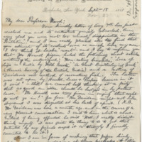 Hornaday, W. T. Letter to Ward, Henry A. (1881-09-18)