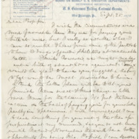 Baird, Spencer Fullerton. Letter to Ward, Henry A. (1876-09-25)