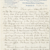 Baird, Spencer F.  Letter to Ward, Henry Augustus (1876-09-12)