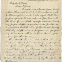 Hobbs, B. C. Letter to Ward, Henry A.  (1881-01-19)