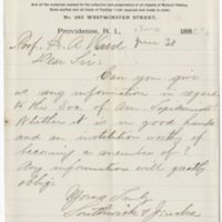Southwick & Jenks. Letter to Ward, Henry A. (1880-06-30)