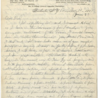 Howell, Edwin Eugene. Letter to Ward, Henry A (1883-05-22)