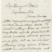 Dodge. Letter to Ward, Henry Augustus. (1873-11-11)