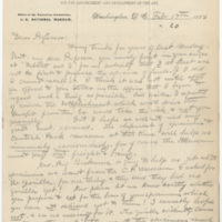 Hornaday, W. T. Letter to Ward, Henry Augustus. (1883-02-17)