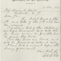 Lee, George Washington Custis. Letter to Ward, Henry A. (1875-12-10)