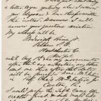 Prime, Frederick. Letter to Ward, Henry Augustus (1873-07-03)