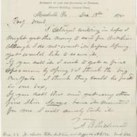 Richmond, A. B. Letter to Ward, Henry A. (1875-12-18)